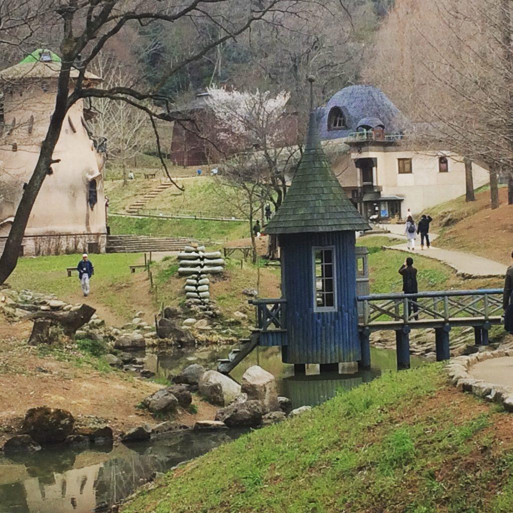 あけぼの公園ムーミン水浴び小屋