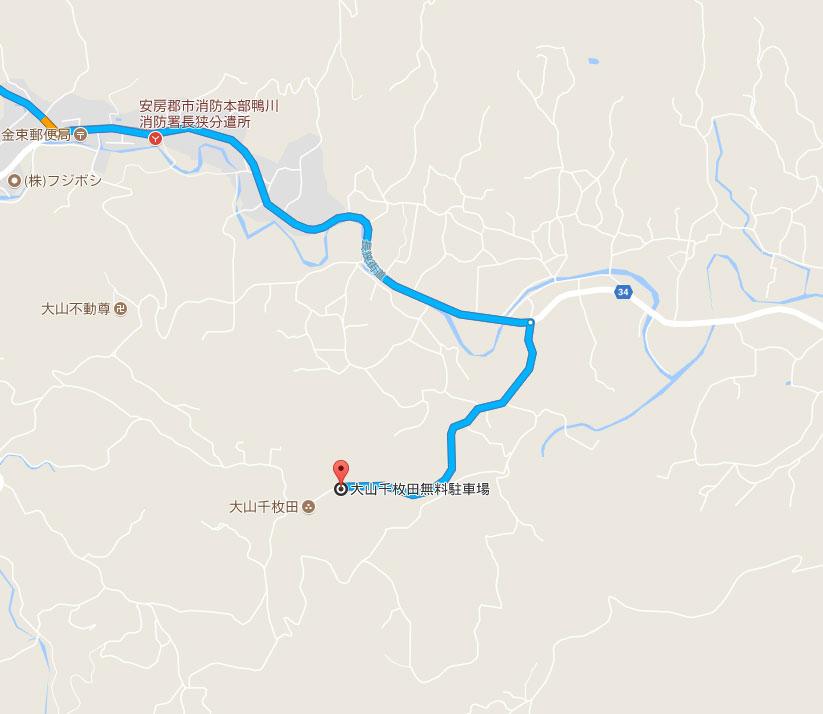 大山千枚田地図