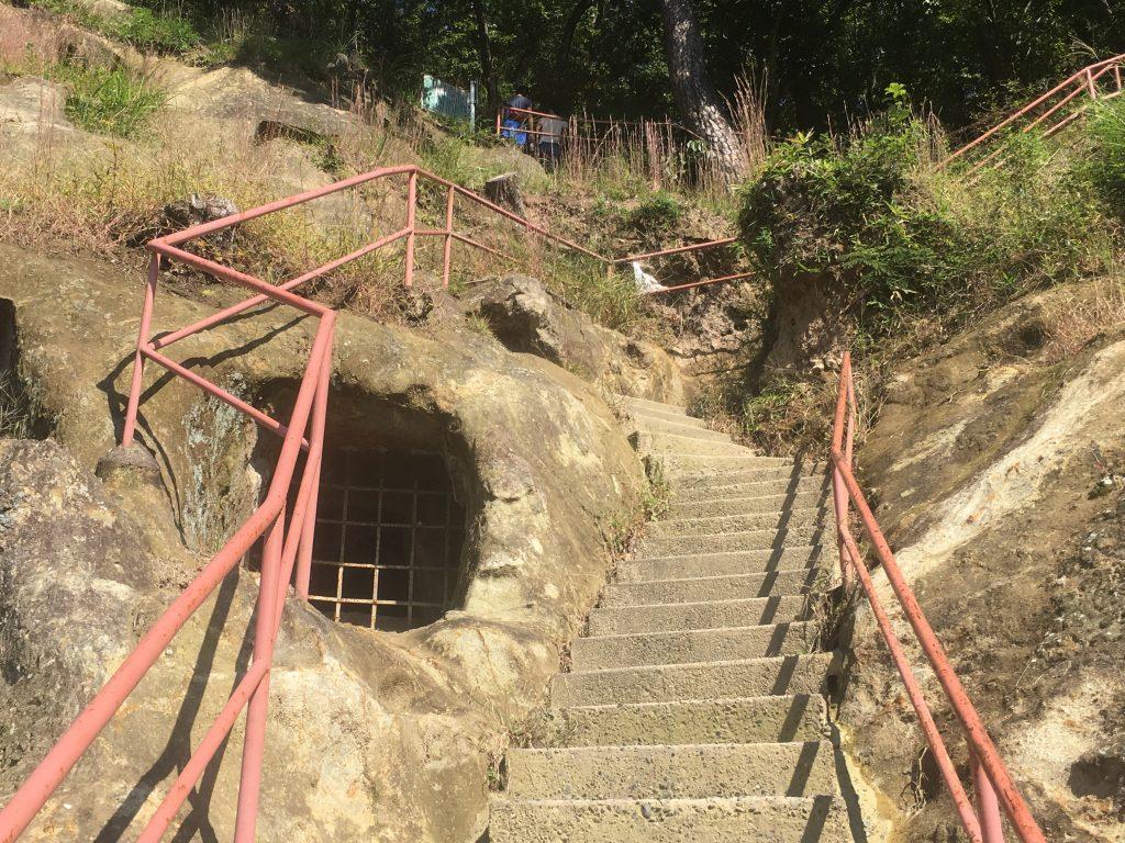 吉見百穴 階段